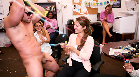 Office Party Cock Blowout a3